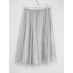 Zara light grey tulle skirt